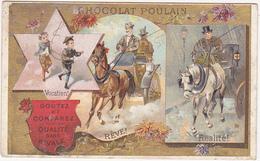 Chromo / CHOCOLAT POULAIN / Vocation, Rêve, Réalité (Calèche, Fiacre) - Poulain