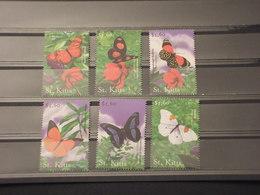 ST. KITTS - 2001 FARFALLE 6 VALORI - NUOVI(++) - St.Kitts E Nevis ( 1983-...)