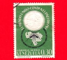 VENEZUELA - Usato - 1962 - Lotta Contro La Malaria - Paludismo - The World United Against Malaria - 0.30 - Venezuela