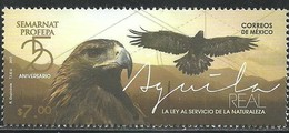 2017 MÉXICO AGUILA REAL MNH STAMP REAL EAGLE, THE LAW AT THE SERVICE OF NATURE - México