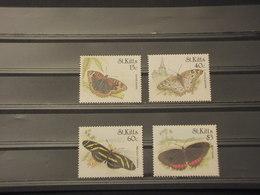ST. KITTS - 1990 FARFALLE 4 VALORI - NUOVI(++) - St.Kitts E Nevis ( 1983-...)
