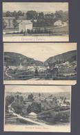 1901 3 X VIELSALM - HERMAMONT VUE DE SALM-CHÂTEAU PANORAMA DE RENCHEUX !!! CARTES COUPER A VOIR - Vielsalm