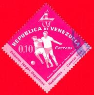 VENEZUELA - Usato - 1962 - Primi Giochi Sportivi Nazionali A Caracas - Calcio - 0.10 - Venezuela