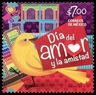 2017 MÉXICO DÍA DEL AMOR Y LA AMISTAD,CANARIO PAJARITO DE LA SUERTE  MNH DAY OF LOVE AND FRIENDSHIP, BIRD CANARY - México