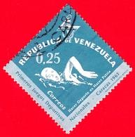 VENEZUELA - Usato - 1962 - Primi Giochi Sportivi Nazionali A Caracas - Nuoto - 0.25 - Venezuela