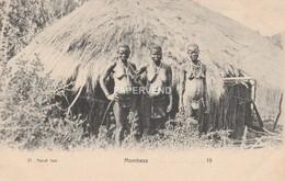 Kenya  BEA  MOMBASA  Nandi Hut With  Natives  Topless Ky664 - Kenya