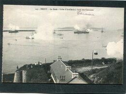 CPA - BREST - La Rade - Salve D'Artillerie à Bord Des Cuirassés - Brest