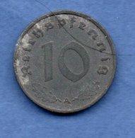 Allemagne --  10 Reichspfennig  1941 A  - Km # 101  - état  TB+ - [ 4] 1933-1945 : Third Reich