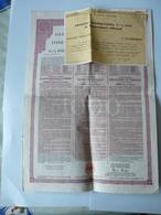Emprunt International 5 1/2 %  1930   Avec Certificat De Propriété Francaise No A 1331472 - Actions & Titres