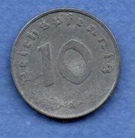 Allemagne --  10 Reichspfennig  1944 A  - Km # 101  - état  TB+ - [ 4] 1933-1945 : Tercer Reich