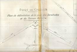 Plan Du Fort De CHELLES. Lire Détails Ci-dessous - Architecture