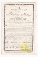 DP Blondina Butaye ° Watou Poperinge 1821 † Nieuwpoort 1900 X Karel VandenBerghe - Imágenes Religiosas
