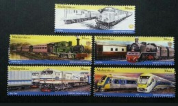 Trains Of Malaysia 2010 Railway Locomotive Vehicle Transport Train (booklet Stamp) MNH - Malaysia (1964-...)