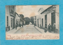 Tacna. - Calle San Martin, Entrada à La Plaza Colon. - Peru