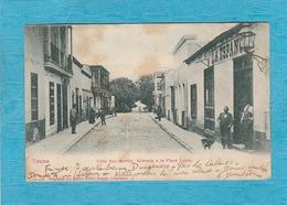 Tacna. - Calle San Martin, Entrada à La Plaza Colon. - Pérou