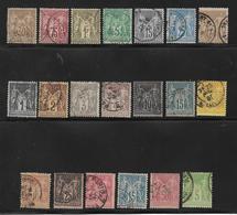 France 22 Types Sages Différent Oblitérés Cote + De 115€ - 1853-1860 Napoleon III