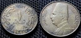 Egypt - 1 Millieme - Fuad -1932-AH 1351 - KM 344 - Egipto