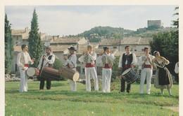 CPSM 84 VAISON MONDRAGON GROUPE FOLKLORIQUE FLOUR DE ROSE TAMBOURINAIRES - Vaison La Romaine