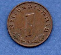 Allemagne --  1 Reichspfennig  1939 B  - Km # 89  - état  TTB - [ 4] 1933-1945 : Third Reich
