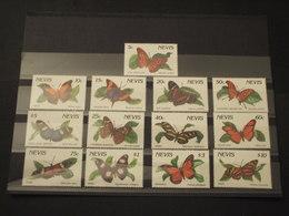 NEVIS - 1990/1 FARFALLE 6+7  VALORI - NUOVI(++) - St.Kitts E Nevis ( 1983-...)