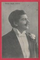 Antonio Bigoni , Baritono  -1910  (voir Verso ) - Cantanti E Musicisti