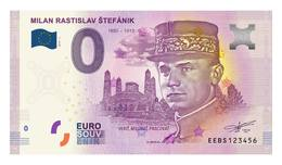 0 Euro Billet Souvenir Slovaquie 2019 - MILAN RASTISLAV ŠTEFÁNIK - General - EURO