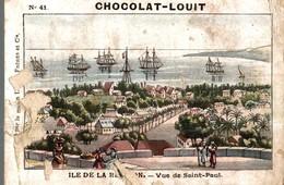 CHROMO CHOCOLAT LOUIT  ILE DE LA REUNION  VUE DE SAINT-PAUL - Louit