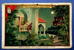 CHROMO LIEBIG...ROMEO ET JULIETTE....ENTREVUE NOCTURNE AU BALCON...CALENDRIER 1895 - Liebig