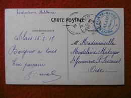 CACHET DE FRANCHISE MILITAIRE ALAIS HOPITAL SAINTE BARBE 1915 CPA ALAIS AVENUE DE LA GARE - Marcophilie (Lettres)