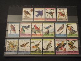 NEVIS - 1985 UCCELLI 8+8  VALORI - NUOVI(++) - St.Kitts And Nevis ( 1983-...)