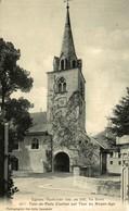 EGLISES VAUDOISES ANC. EN 1907 - TOUR DE PEILZ CLOCHER SUR TOUR DU MOYEN-AGE  Suiza Switzerland Suisse Schweiz - VD Vaud
