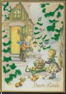 BUON NATALE - COLORE VERDE E BIANCO DI PANNO - EDIZ. GM - SCRITTA AL RETRO DATATA 1960 - Cartoline
