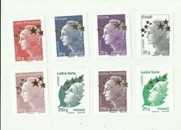 TIMBRES - ERINOPHILIE - 15 Vignettes 6 X 8 De 0,01 € A 250 G Mariane De Beaujard - Erinnophilie