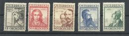 AUSTRIA YVERT  460A/62/63/64/65   MNH  **   ( EL 65 TIENE UN PLIEGUE HORIZONTAL) - 1918-1945 1ra República