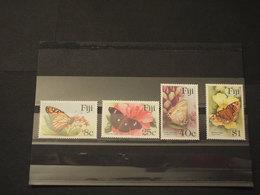 FIJI - 1985 FARFALLE 4  VALORI - NUOVI(++) - Fiji (1970-...)
