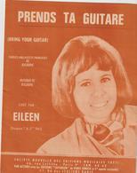 ( GEO2)PRENDS  TA GUITARE  ,  EILEEN  Ainsi Que Paroles Et Musique - Partitions Musicales Anciennes
