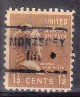 USA Precancel Vorausentwertung Preo, Locals Indiana, Monterey 712 - Vorausentwertungen