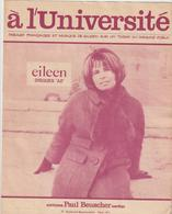( GEO2)A L'université   ,  EILEEN  Ainsi Que Paroles Et Musique - Partitions Musicales Anciennes