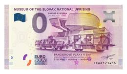 0 Euro-Schein Souvenir Slowakei 2018 - Museum SNP - Der Panzerzuge - EURO
