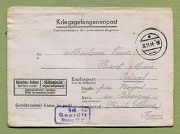 CARTE-LETTRE DE PRISONNIER DE GUERRE Pour ODIVAL Par NOGENT (52)  1944 - Marcophilie (Lettres)