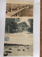 3 Cpa, ARCACHON Perspective De La Nouvelle Jetée, Villa Pereire, Vue De La Plage Prise De L'ancien Débarcadère, Animées - Arcachon