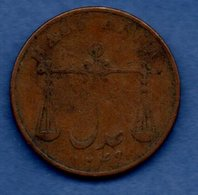 British East India Company -- 1/2 Anna 1834     - Km # 251   - état  B+ - Kolonies