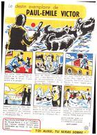 """S S A/Buvard Sécurité Sobriété Info Alcolisme  """"Paul-Emile Victor""""  (Santé Sobriété) (N=7) - Buvards, Protège-cahiers Illustrés"""