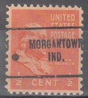 USA Precancel Vorausentwertung Preo, Locals Indiana, Morgantown 704 - United States