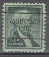USA Precancel Vorausentwertung Preo, Locals Indiana, Morocco 703 - Vorausentwertungen