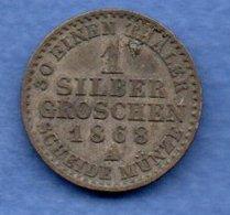 Prusse --   1 Silbergroschen 1868 A   - Km # 485  - état  TTB - [ 1] …-1871 : German States