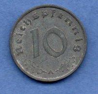 Allemagne --   10 Reichspfennig 1940 A  - Km # 101  - état  TTB - [ 4] 1933-1945 : Tercer Reich