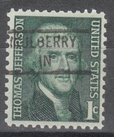 USA Precancel Vorausentwertung Preo, Locals Indiana, Mulberry 841 - Vorausentwertungen
