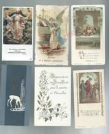 LOT DE 6 IMAGES PIEUSE : - Images Religieuses