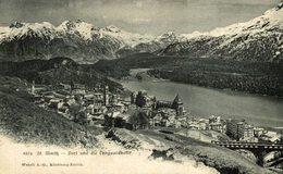 ST MORITZ DORF UN DIE LANGUARDKEFTE  Suiza Switzerland Suisse Schweiz - GR Grisons